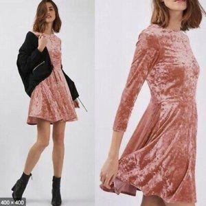 Backless crushed velvet dress